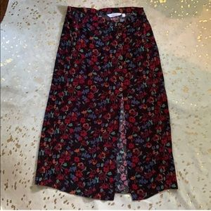 & Other Stories floral midi skirt